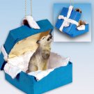 Wolf, Timber Blue Gift Box Ornament