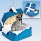 Kangaroo Blue Gift Box Ornament