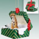 Cheetah Green Gift Box Ornament