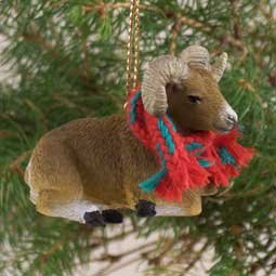 Big Horn Sheep  Christmas Ornament