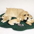 Cocker Spaniel Blonde Mom & Pups