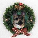 German Shepherd Tan & Black Wreath Ornament