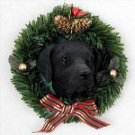 Labrador Retriever Black Wreath Ornament