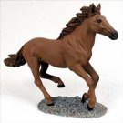 Chestnut Horse Running Figurine
