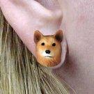 Finnish Spitz Earrings Post