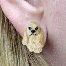 Cocker Blonde Earrings Post