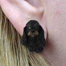Cocker Black & Brown Earrings Post