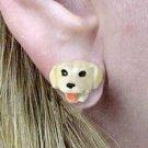 Lab Ret Yellow Earrings Post