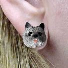 Cairn Terrier Gray Earrings Post