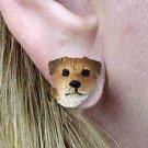 Border Terrier Earrings Post