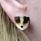 Australian Shepherd Red Dock Earrings Post