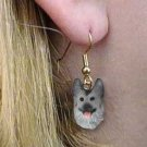 Germ Shepherd Black & silver Earrings Hanging