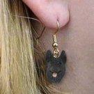 Germ Shepherd Black Earrings Hanging