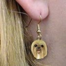 Lhasa Apso Blonde Earrings Hanging