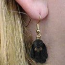 Cocker Black & Brown Earrings Hanging
