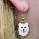 Samoyed Earrings Hanging