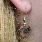 Shar Pei Brown Earrings Hanging