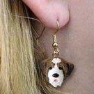 Saint Bernard Smooth coat Earrings Hanging