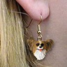 Papillion Brown & White Earring Hanging