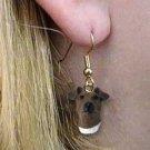 Fox Terrier Brown & White Earrings Hanging