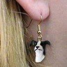Greyhound Black Earring Hanging