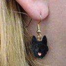 Schipperke Earring Hanging