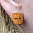 Persian Red Earrings Post