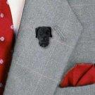 Great Dane Black Natural Ears Head Pin