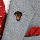 Doberman Red Natural Ears Pin