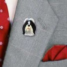 Shih Tzu Black & White Pin
