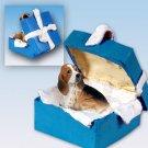 BGBD37 Basset Hound Blue Gift Box Ornament