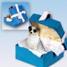 BGBD99B Australian Shepherd Blue, Blue Gift Box Ornament