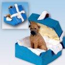 BGBD88 Bull Mastiff Blue Gift Box Ornament