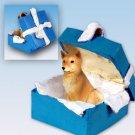 BGBD117 Finnish Spitz Blue Gift Box Ornament