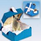 BGBD52 Norwegian Elkhound Blue Gift Box Ornament