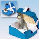 BGBD76 Irish Wolfhound Blue Gift Box Ornament