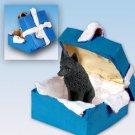 BGBD71 Schipperke  Blue Gift Box Ornament