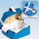 BGBD05C Bulldog, White Blue Gift Box Ornament