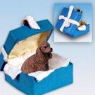 BGBD15A Cocker Spaniel, Brown Blue Gift Box Ornament