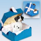 BGBD27A Brittany, Liver & White Blue Gift Box Ornament