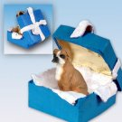 BGBD102A Boxer, Uncropped Blue Gift Box Ornament