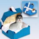 BGBD26A Shih Tzu, Gray Blue Gift Box Ornament