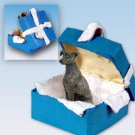 BGBD54C Greyhound, Brindle Blue Gift Box Ornament