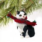 CTX22 Manx Black & White Christmas Ornament