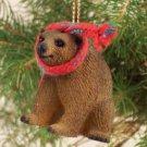 ATX01 Brown Bear Christmas Ornament