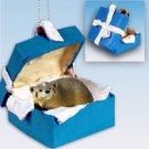 BGBA35 Badger Blue Gift Box Ornament