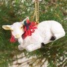ATX45 Goat, White Christmas Ornament