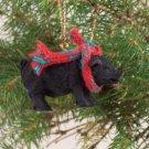 ATX48 Pig, Black Christmas Ornament
