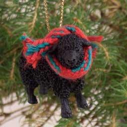 ATX50 Sheep, Black Christmas Ornament