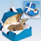 BGBA19 Deer, Doe Blue Gift Box Ornament